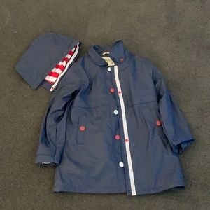 Girls Hatley raincoat with removable good size 10